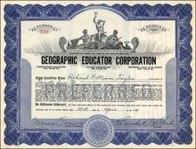 Geographic Educator Corporation 1927