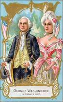 George Washington in Private Life Post Card