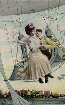 German Balloon Postcard - Turn of the Century