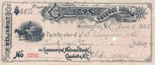 Glencoe Cotton Mills Check 1888-1890