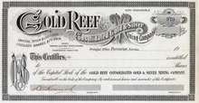 Gold Reef Consolidated Gold & Silver Mining Company 1905 - Tonopah, Nevada
