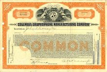 Columbia Graphophone Manufacturing Company circa 1920's
