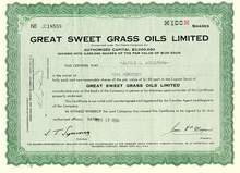 Great Sweet Grass Oils Limited