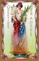 Greetings From a Patriot Postcard