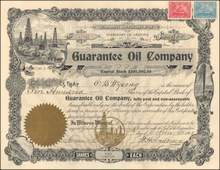 Guarantee Oil Company 1901 - Territory of Arrizona - Beaumont, Texas Property