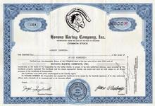 Havana Racing Company, Inc 1957