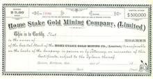 Home Stake Gold Mining Company - Montana Terrotory
