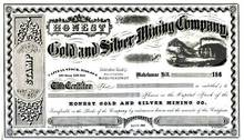 Honest Gold and Silver Mining Company 1864 - Calaveras County, California