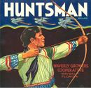 Huntsman Citrus Label - Man Shooting Arrow