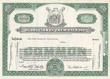 HydroCarbon Chemicals Stock Certificate