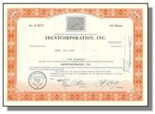 Identcorporation, Inc Stock Certificate - Fingerprint Vignette