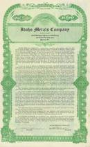 Idaho Metals Company Gold Bond - 1926