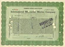International Mercantile Marine Stock Titanic dated 1916