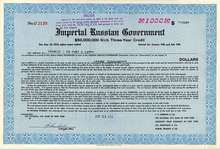 Imperial Russian Government $1,000 Bond 1916