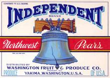 Independent Brand Crate Label - Liberty Bell Image