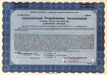 International Proprietaries, Incorporated - Early Medicine Company