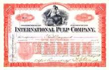 International Pulp Company 1893 - Mother and Children Vignette