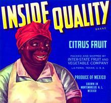 Inside Quality Citrus Fruit Label - Old Mammy