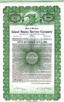 Inland States Service Company 1929 - Convertible Gold Bond