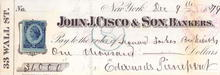 John J. Cisco & Son, Bankers 1879 - Edwards Pierrepont