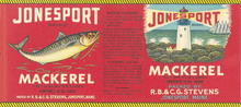 Jonesport Brand Mackerel Label