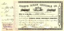 Joseph Dixon Crucible Company - 1880's