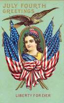 July Fourth Greetings Liberty Forever