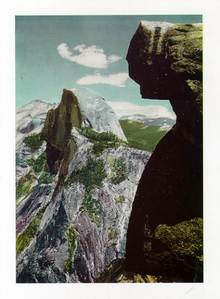 Jumbo Postcard from the Half Dome from Glacier Point, Yosemite National Park, California
