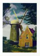 Jumbo Postcard from the North Windmill, Golden Gate Park, California