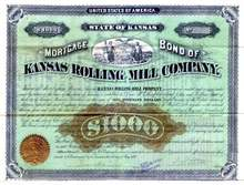 Kansas Rolling Mill Company 1879 - Signed by Dan Parmelee Eells