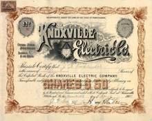 Knoxville Electric Company 1900 - Electric light vignette