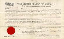Land Deed from Duluth, Minnesota 1884 - Chester A. Arthur