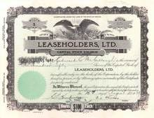 Leaseholders, Ltd. 1929 - Las Vegas, Nevada