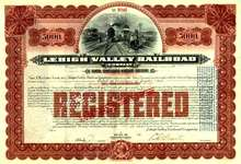 Lehigh Valley Railroad Company - Gold Bond