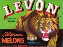 Levon Brand Crate label - Fierce Lion Image
