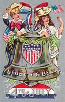 Liberty Bell 4th of July Postcard