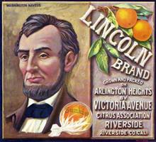 Lincoln Brand Sunkist Citrus Label - Abe Lincoln Image