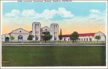 Lincoln Grammar School, Madera, California Postcard