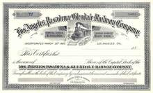 Los Angeles, Pasadena and Glendale Railway Company 1889