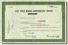 Lost River Mining Corporation, Limited - Ontario, Canada