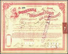 Louisiana and Missouri River Railroad Company 1871 - Missouri