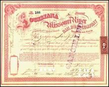 Louisiana and Missouri River Railroad Company 1871 - Missouri