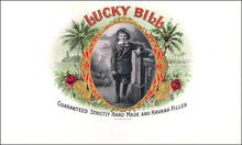 Lucky Bill Cigar Label