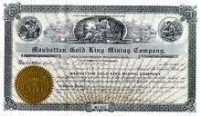 Manhattan Gold King Mining Company 1906 - Nevada