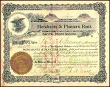 Merchants and Planters Bank 1902 - South Carolina