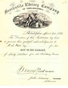 Mercantile Library Company of Philadelphia 1866