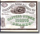 Merchants Union Express Co. 1868 - Early American Express Company