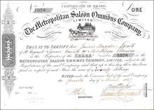 Metropolitan Saloon Omnibus Company - 1857 - England