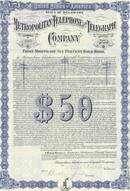 Metropolitan Telephone and Telegraph circa 1912 - 6% Gold Bonds