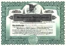Metropolitan Trust Company 1924